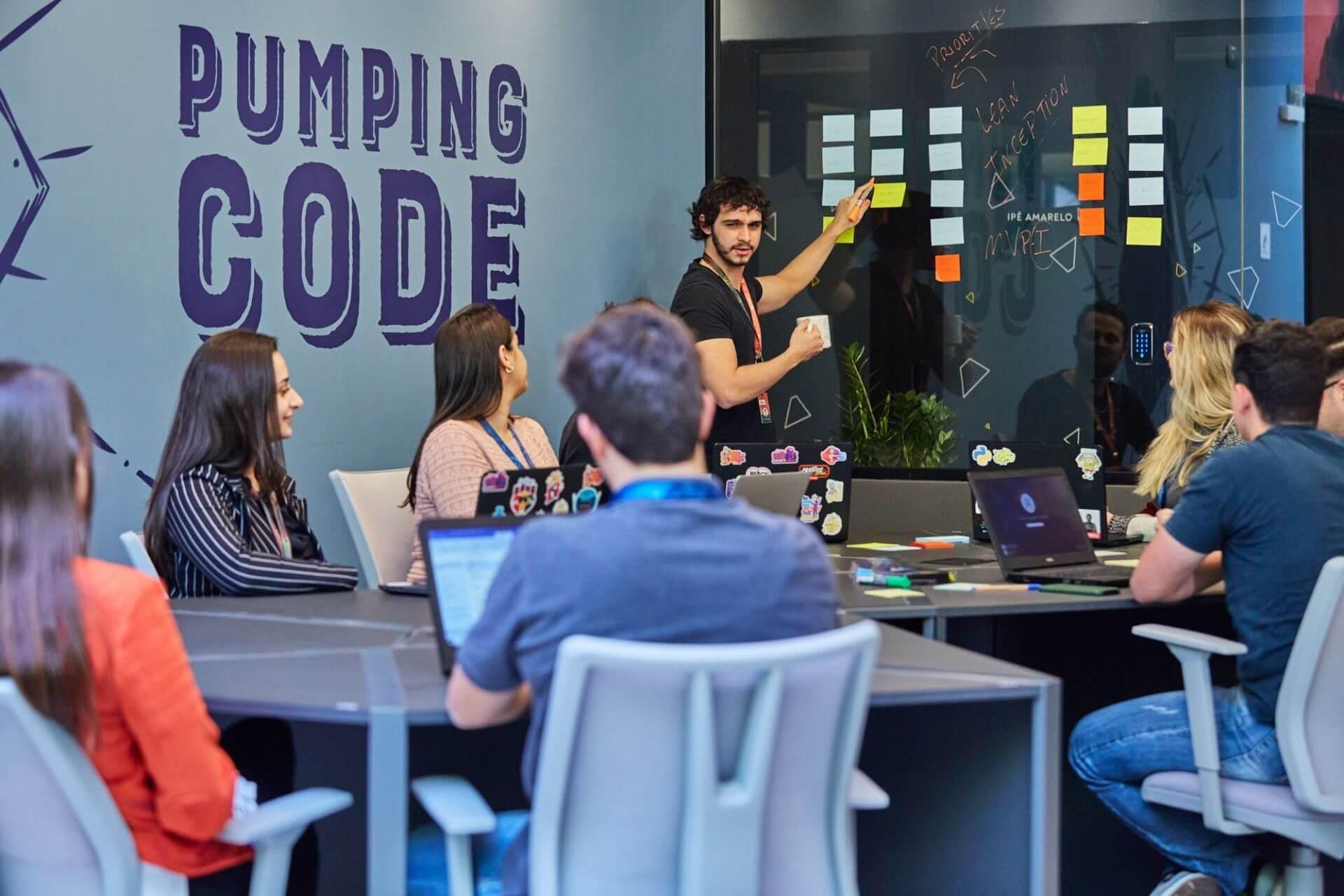 Nearshore Software Development Employees Working.